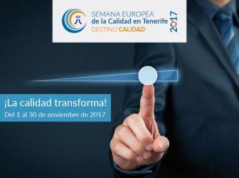 El Cabildo de Tenerife celebra la Semana Europea de la Calidad 2017
